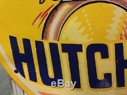 Plaque emaillee hutchinson 33cm