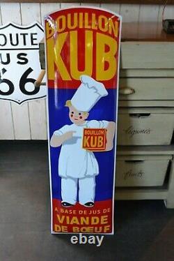 Plaque émaillée kub 1 mètre