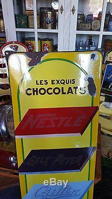 Plaque emaillee les chocolats exquis