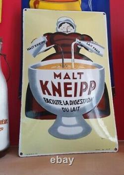 Plaque émaillée malt kneipp ed. Jean de beuville 1925 épicerie café