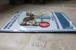 Plaque émaillée office syndical de controle du lait