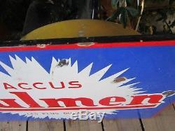 Plaque émaillée originale ACCUS FULMEN 96 X 63 cm