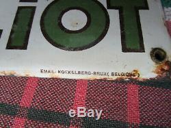 Plaque émaillée originale CHICOREE WILLIOT Email KOEKELBERG-BRUX