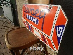 Plaque émaillée originale GEVAERT film photo agfa effet 3D