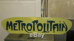Plaque émaillée originale METROPOLITAIN Hector Guimard Art Nouveau 1900