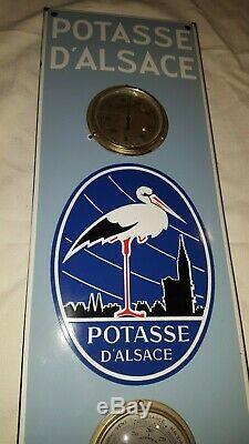 Plaque émaillée potasse d'Alsace (thermomètre, baromètre)
