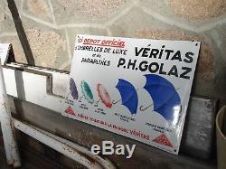 Plaque émaillée pour les parapluies GOLAZ