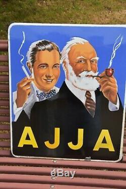 Plaque émaillée pour les tabacs AJJA de 1952