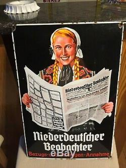 Plaque émaillée propagante WW2