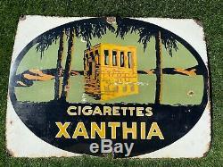 Plaque émaillée publicitaire Cigarettes XANTHIA tabac buraliste NIL