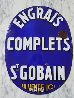 Plaque émaillée publicitaire Engrais complets St Gobain vers 1930
