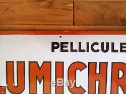 Plaque émaillée publicitaire Lumière Rare Enamel advertising plate Lumiere