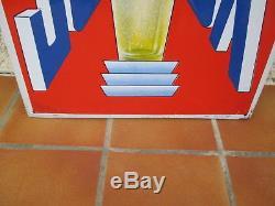 Plaque émaillée publicitaire bière sochaux art populaire