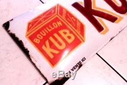 Plaque émaillée publicitaire pour Bouillon KUB
