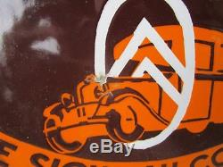 Plaque émaillée ronde Citroën 1930