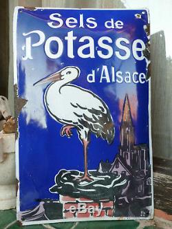 Plaque émaillée sels de potasse