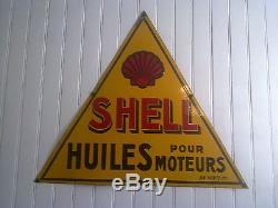 Plaque emaillee shell