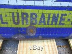 Plaque émaillée tcf touring club de france don urbaine seine locomotive train
