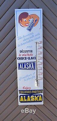 Plaque émaillée thermomètre ALASKA choco glacé