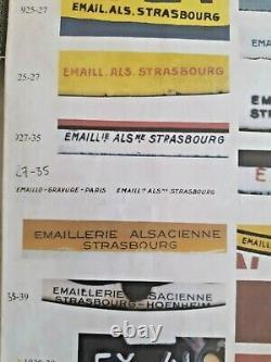 Plaque émaillée thermomètre CASTROL signé EAS (période 1927/35) très beau