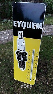 Plaque émaillée thermomètre bougie EYQUEM