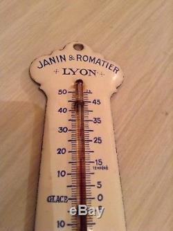 Plaque emaillée thermometre de propreté PREMOLEINE HUILE POUR AUTOS garage