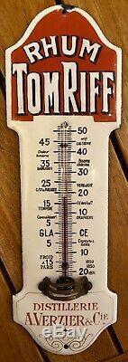 Plaque émaillée thermomètre de propreté Rhum TomRiff