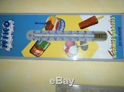Plaque émaillée thermometre glace miko très bon état