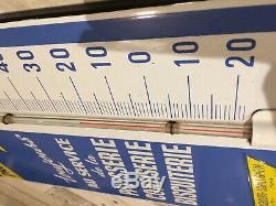 Plaque emaillée thermomètre produits marguerite
