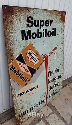 Plaque émaillée tole publicitaire huile