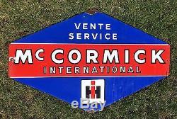 Plaque émaillée tracteur MAC CORMICK International Vente service Traktor tractor