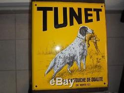 Plaque émaillées publicitaire (TUNET)