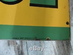 Plaque en tôle émaillée ancienne 1950 BP ENERGOL bon état