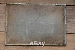 Plaque en tôle émaillée lithographiée chocolat Menier 1920-1930