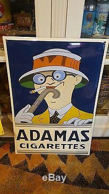 Adamas Cigarettes plaque émaillée adamas