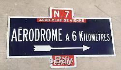 Plaque émaillée Aeroclub de Vienne Don Dunlop