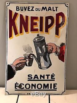 Plaque Émaillée Ancienne Malt Kneipp A Voir