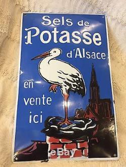 Plaque Émaillée Ancienne Sels De Potasse D Alsace