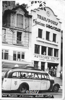 Plaque Émaillée Autobus Transports Francisque Grosjean Citroën Annonay Ardèche