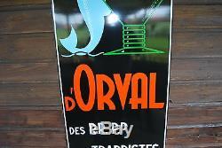 Plaque émaillée BIERE ORVAL de 1998 (BELGE) ORIGINALE