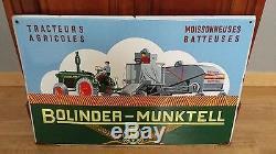 Plaque émaillée BOLINDER MUNKTELL tracteur moissonneuse batteuse pub annee 30/50