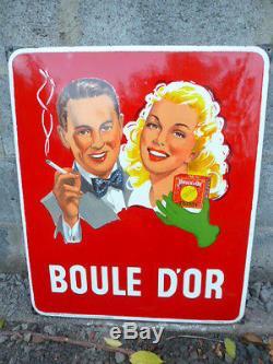 Plaque émaillée BOULE D'OR 1953
