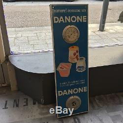 Plaque Émaillée Baromètre Danone