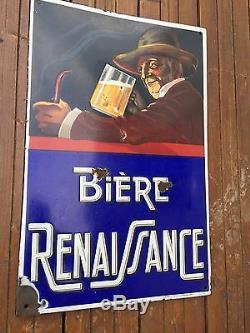 Plaque Émaillée Bière Renaissance