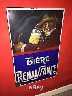 Plaque Émaillée Bière Renaissance Rarissime Bière De Lorraine