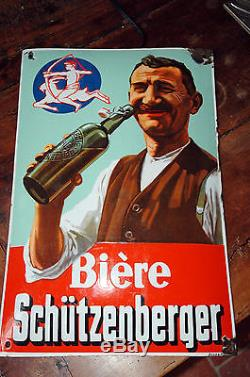 Plaque émaillée Bière Schützenberger
