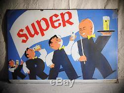 Plaque émaillée Bière Super Krak