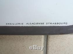 Plaque émaillée Bière du pêcheur Emaillerie Alsacienne de Strasbourg