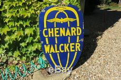 Plaque émaillée CHENARD ET WALCKER