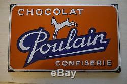 Plaque émaillée Chocolat Poulain
